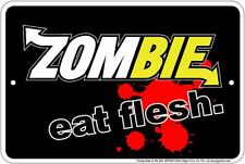Zombie Metal Sign Subway Sandwich Spoof - Eat Fresh Eat Flesh - the Walking Dead