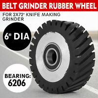 "6"" Dia Belt Grinder Rubber Wheel for 2x72"" knife making grinder Free Shipping"