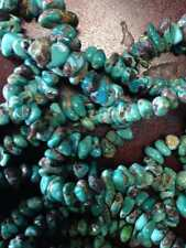 "Genuine Kingman Arizona Turquoise 16"" strand 125+ pieces"