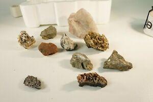 Mineralien Konvolut Rosenquarz 10 diverse Steine Glitzer Heilsteine 1 Kg S-2769