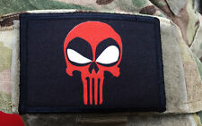 Deadpool Punisher Morale Patch Tactical ARMY Hook Military USA Badge Flag