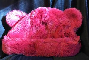 Pumpkin Patch All Season Red Fluffy Teddy Bear Ears Beanie Hat S