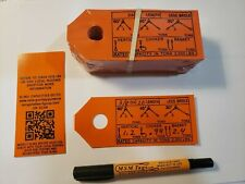 Wire Rope Sling Capacities  50 Tags Labels For Re-tagging Slings  Printed in USA