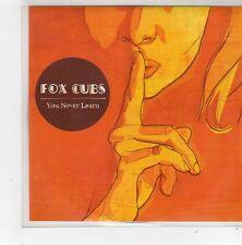 (FN219) Fox Cubs, You Never Learn - 2008 DJ CD