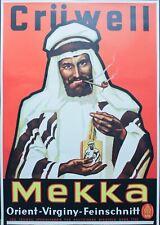1930s MEKKA Tobacco German Advertising Poster Cruwell Tabak Co Arab Poster