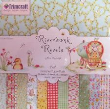 RIVERBANK REVELS 6''x 6'' PATTERNED PAPER PACK~24 SHEETS~CRAFT~ART~SCRAPBOOKING~