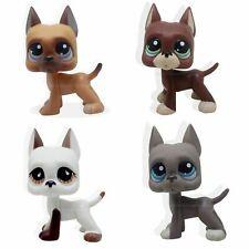 4pcs Littlest Pet Shop Great Dane Dog Lps #244 #750 #184 #1519 Animal