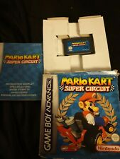 Mario Kart Super Circuit Nintendo Gameboy Advance  Game Boxed With Instructions