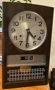 Vintage Seiko Pendulum 30 Day Wall Clock - 1970s