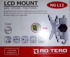 New RO-TERO Support Plasma LCD Monitor TV Wall Mount Aluminium 13 Secure Bracket