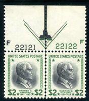 USAstamps Unused VF US $2 Presidential Plate # Arrow Pair Scott 833 OG MNH