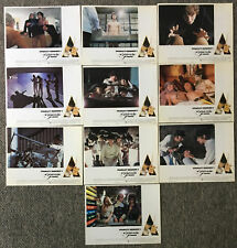 Lot of 10 1971 Original CLOCKWORK ORANGE UK version, X-rated Lobby Cards