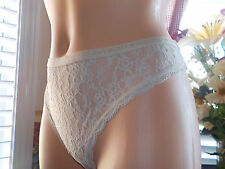 3 Victoria's Secret Body by Victoria All Over Lace Thong in Nude Size XL