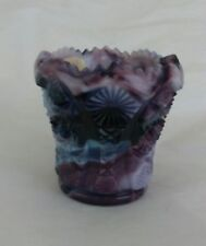 Rare Signed Imperial Olden End O' Day Glass Pressed Pattern Toothpick Holder