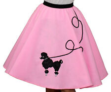 "Pink FELT 50s Poodle Skirt _ Adult Size SMALL _ Waist 25""- 32"" _ Length 25"""