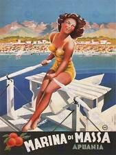 Viaggi TURISMO MARINA DI MASSA ITALIA SPIAGGIA MARE poster art print 30x40 cm bb2857b