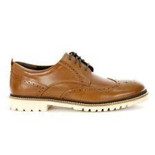 Rockport Men's Marshall Wingtip Oxford Cognac Leather Shoes H80142 NEW!