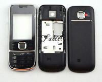 For Nokia 2700 2700C Full Fascia housing cover case Keypad Keyboard Black New