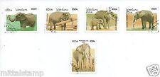 ELEPHANTS ANIMALS FLORA FAUNA SET OF 5 STAMPS FINE QUALITY # 14