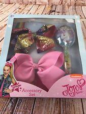 Jo Jo Siwa large bow set with Unicorn Brush and 2 Signature Bows Large Deal