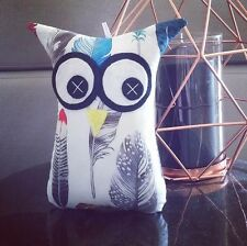 ❤️Owl Softies❤️ Feathers on White Background | 18cm Owls | Baby | Girls | Gifts
