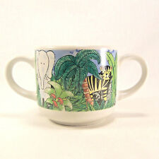 Childs Cup Multi-Colored Jungle Kids by Retroneu Everyday China 1998 Two Handles