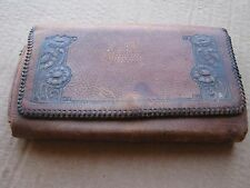 Vintage Leather Fly Wallet with Flies Fly Fishing Nautical Decor