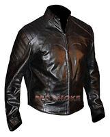 Batman The Dark Knight Rises 2012 Unisex Black Hi Quality Leather Jacket Costume