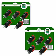10 NEGRO C550 Cartuchos de tinta para Canon MG6450 MG6650 MG7150 MG7550 NO OEM