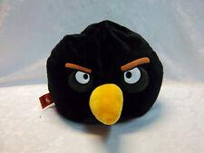 "Large Black Angry Bird 14"" Microbead Plush Soft Toy Stuffed Animal"