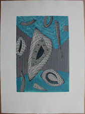 GOETZ Henri - Gravure au carborundum HC etching .
