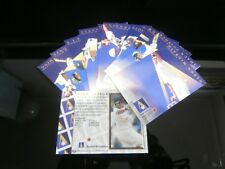 ANSETT AUSTRALIA ORIGINAL RARE 1997 SET OF CRICKET TEST SERIES PLAYER CARDS