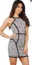 Parker XS Abstract Multi Color Print Mini Heathered Racerback Dress -