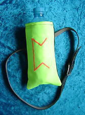 Yellow florescent UV bottle holder belt bag pouch embroidered Norse rune Pertho