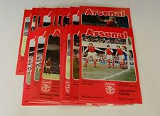 More details for arsenal home programmes complete 1978/79 (x27) (d1/fac/lc/uefa) – mint or exc