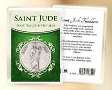 SAINT JUDE POCKET TOKEN & CARD - RELIGIOUS STATUES CANDLES PICTURES ALSO LISTED