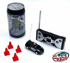 Micro RC Car | Black Car Police Can | Remote Control Mini Race Car