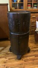 Antique Oak Bar Cabinet Cellarette Arts & Crafts 1910's 1647 War Liquor Cabinet
