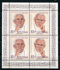 Aitutaki 2011 Papst Johannes Paul II. Benedikt Popes 834-35 Kleinbogen MNH