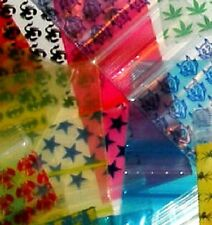 "500 Mixed Designs Baggies 3434 mini ziplock bags 3/4"" x 3/4"" Apple Brand"