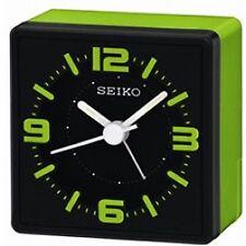 Analogue Bedside Alarm Clock Green
