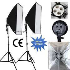 LED Photography Light softbox Continuous Lighting Kit with Heavy Duty Stand-184w