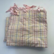 Pottery Barn Kids Girls Pink Checked Gingham Cotton Shower Curtain Spring PBK