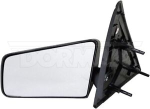 94-98 S-10 SIDE VIEW MIRROR - LEFT LH DRIVER SIDE MANUAL STANDARD BLACK  955-193