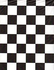"""Black and White Checker table cover tablecloth plastic 84"""" round (2 pieces)"""
