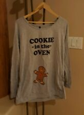 Christmas Maternity Gingerbread Cookie In Oven Shirt Pregnancy Announce LARGE