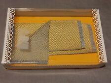 Bodo Hennig Puppenmöbel: 2x Teppich gelb / Läufer 6413 - 1:10 - 15cm x 6cm