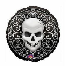 Gothic Skull Halloween 45cm Foil Balloon Party Supplies
