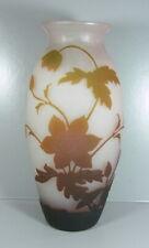 """Jugendstil Glasvase - Vase """" Arsall """" Vereinigte Lausitzer Glaswerke - Höhe:30cm"""