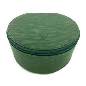 Louis Vuitton Epi Jewelry case Green Leather /C0984